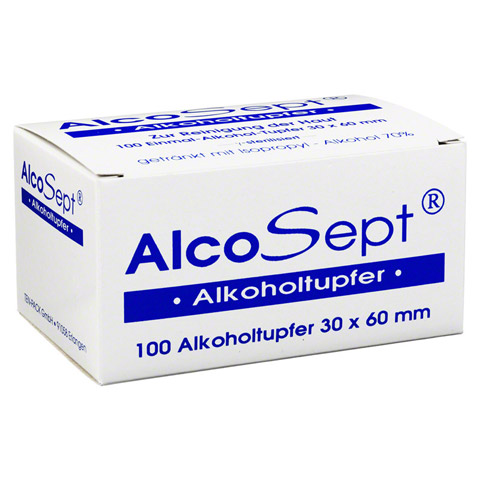 ALKOHOLTUPFER Alcosept 100 St�ck