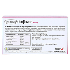 ISOFLAVON 90 mg Dr.B�hm Dragees 60 St�ck - R�ckseite