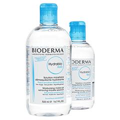 BIODERMA Hydrabio H2O 4in1 Mizellen-Reinigungslös. + gratis Hydrabio H2O 4in1 Mizellen-Reinigungslösung 250 ml 500 Milliliter
