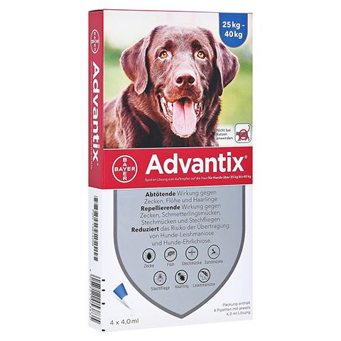 ADVANTIX Spot-on Lsg.z.Auftr.a.d.H.f.Hund 25-40 kg 4x4.0 Milliliter