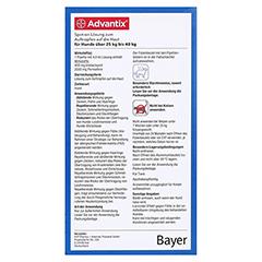 ADVANTIX Spot-on Lsg.z.Auftr.a.d.H.f.Hund 25-40 kg 4x4.0 Milliliter - Rückseite