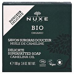 NUXE Bio rückfettende Seife für zarte Haut 100 Gramm - Vorderseite