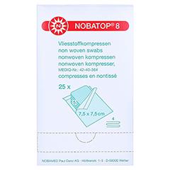 NOBATOP 8 Kompressen 7,5x7,5 cm steril 25x5 Stück - Vorderseite