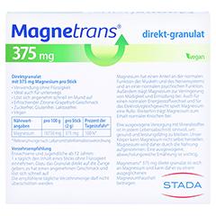 Magnetrans direkt 375 mg Granulat 20 Stück - Rückseite