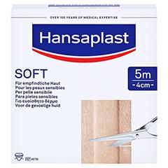 HANSAPLAST Soft Pflaster 4 cmx5 m Rolle 1 Stück - Vorderseite