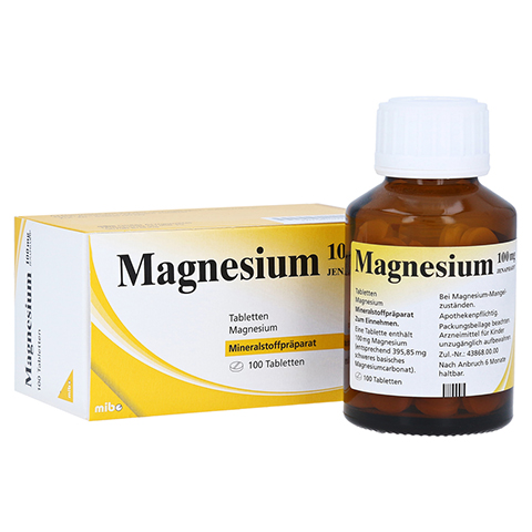 MAGNESIUM 100 mg Jenapharm Tabletten 100 Stück N3
