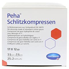 PEHA SCHLITZKOMPRESSEN 7,5x7,5 cm steril 25x2 Stück - Vorderseite