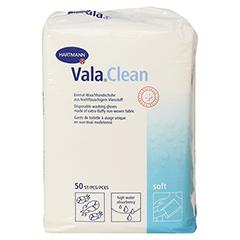 ValaClean soft Einmal-Waschhandschuhe 50 Stück - Vorderseite