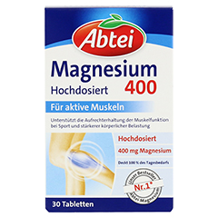 ABTEI Magnesium 400 Tabletten 30 Stück - Vorderseite