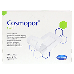 COSMOPOR steril 8x10 cm 25 Stück - Vorderseite