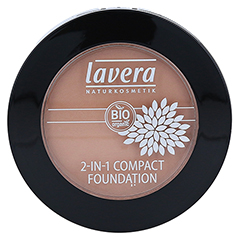 LAVERA 2in1 compact Foundation 03 honey 10 Gramm - Vorderseite