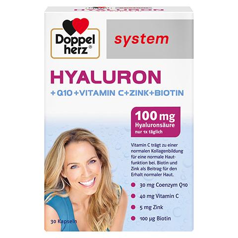 Doppelherz system Hyaluron + Q10 + Vitamin C + Zink + Biotin 30 Stück