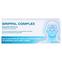 GRIPPAL COMPLEX DoppelherzPharma 200mg/30mg 10 Stück - Rückseite