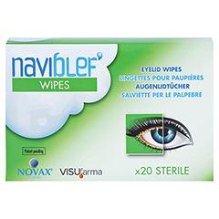 NAVIBLEF wipes Augenlidtücher 20 Stück - Vorderseite