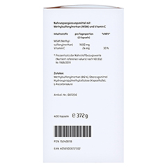 SANHELIOS MSM Kapseln intens 1600 mg 400 Stück - Linke Seite