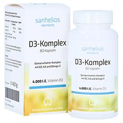 SANHELIOS Vitamin D3 Sonnenvitamin-Komplex mit K2 80 Stück
