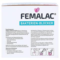 FEMALAC Bakterien-Blocker Pulver 28 Stück - Rückseite