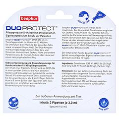 BEAPHAR DuoProtect Tropfen f.Hunde 15-30 kg 9 Milliliter - Rückseite