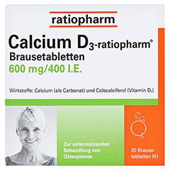 Calcium D3-ratiopharm 600mg/400 I.E. 20 Stück N1 - Vorderseite