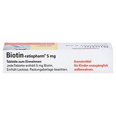 Biotin-ratiopharm 5mg 30 Stück - Oberseite