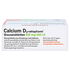 Calcium D3-ratiopharm 600mg/400 I.E. 20 Stück N1 - Oberseite