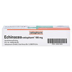 Echinacea-ratiopharm 100mg 20 Stück N1 - Unterseite