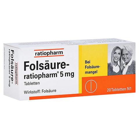 Folsäure-ratiopharm 5mg 20 Stück N1