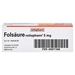 Folsäure-ratiopharm 5mg 50 Stück N2 - Unterseite