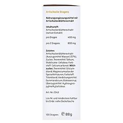 Sanhelios Artischocke Dragees 100 Stück - Linke Seite