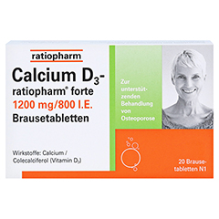 Calcium D3-ratiopharm forte 40 Stück - Vorderseite