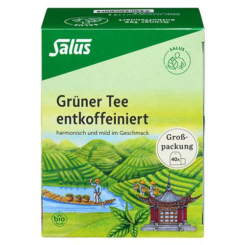 GRÜNER TEE entkoffeiniert Bio Salus Filterbeutel 40 Stück