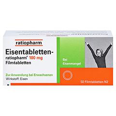 Eisentabletten-ratiopharm 100mg 50 Stück N2 - Vorderseite