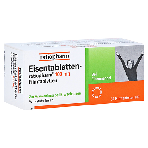 Eisentabletten-ratiopharm 100mg 50 Stück N2