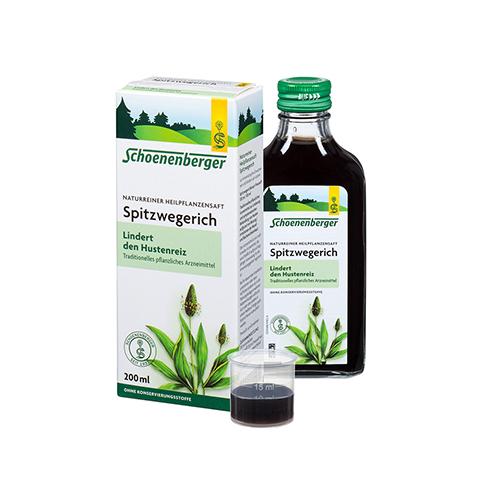 Spitzwegerich naturreiner Heilpflanzensaft Schoenenberger 200 Milliliter
