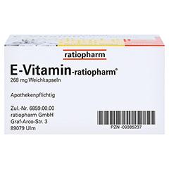 E VITAMIN-ratiopharm Kapseln 30 Stück N1 - Unterseite
