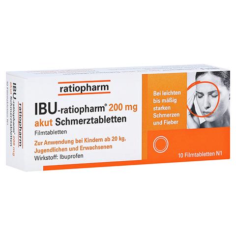 IBU-ratiopharm 200 akut Schmerztabletten 10 Stück N1