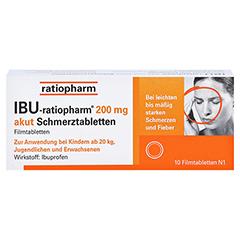 IBU-ratiopharm 200 akut Schmerztabletten 10 Stück N1 - Vorderseite