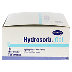 HYDROSORB Gel steril Hydrogel 5x8 Gramm - Rechte Seite