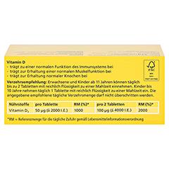 DEKRISTOLVIT D3 2.000 I.E. Tabletten 120 Stück - Rückseite