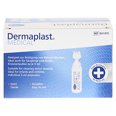 DERMAPLAST MEDICAL Wundreinigungslösung NaCl 5 ml 30 Stück - Rückseite