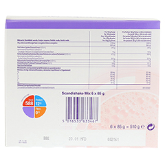 SCANDI Shake Mix Erdbeere Pulver 6x85 Gramm - Rückseite