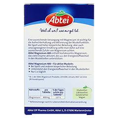 ABTEI Magnesium 400 Tabletten 30 Stück - Rückseite