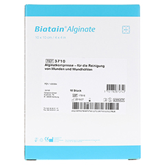 BIATAIN Alginate Kompressen 10x10 cm 10 Stück - Rückseite