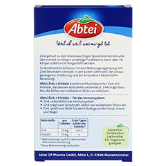 ABTEI Zink + Histidin 30 Stück - Rückseite