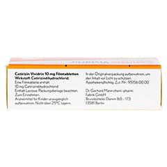 Cetirizin Vividrin 10 mg Filmtabletten 50 Stück N2 - Oberseite