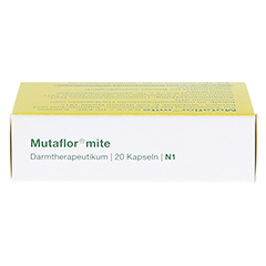 MUTAFLOR mite magensaftresistente Kapseln 20 Stück N1 - Oberseite