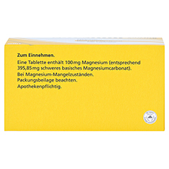 MAGNESIUM 100 mg Jenapharm Tabletten 100 Stück N3 - Oberseite