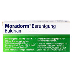 Moradorm Beruhigung Baldrian 20 Stück - Rückseite