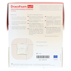 DRACOFOAM Haft Schaumstoff Wundaufl.5x5 cm 10 Stück - Rückseite