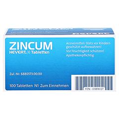 ZINCUM HEVERT N Tabletten 100 Stück N1 - Unterseite